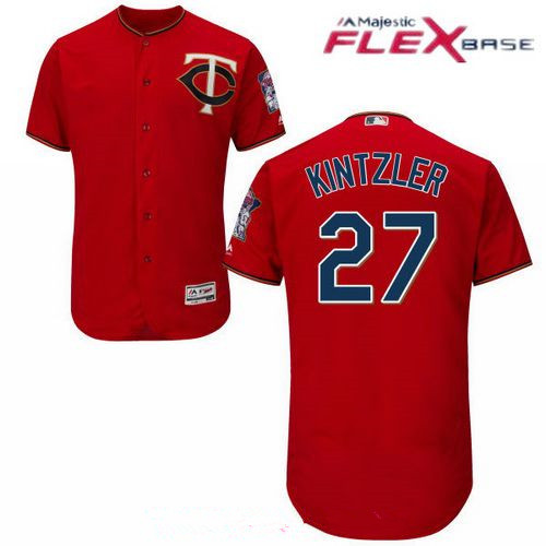 Men's Minnesota Twins #27 Brandon Kintzler Scarlet Red Stitched MLB Majestic Flex Base Jersey