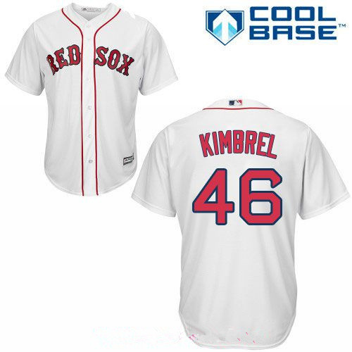 Men's Boston Red Sox #46 Craig Kimbrel White Home Stitched MLB Majestic Cool Base Jersey
