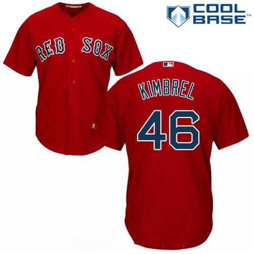 Men's Boston Red Sox #46 Craig Kimbrel Red Alternate Stitched MLB Majestic Cool Base Jersey