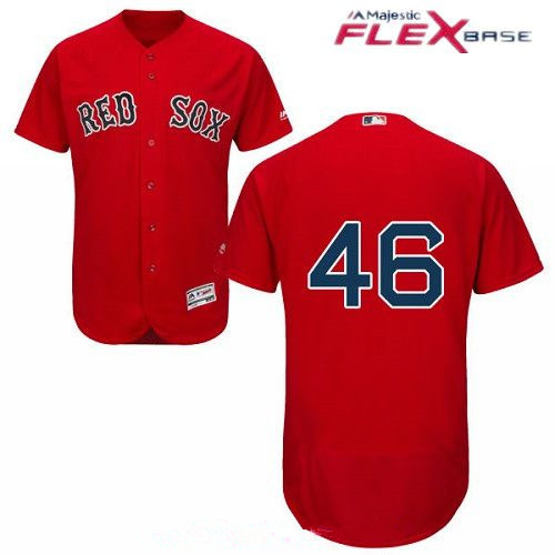 Men's Boston Red Sox #46 Craig Kimbrel Red Alternate Stitched MLB Majestic Flex Base Jersey
