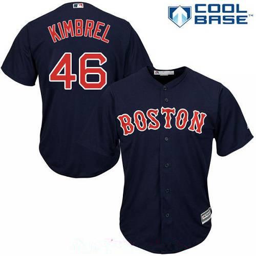 Men's Boston Red Sox #46 Craig Kimbrel Navy Blue Alternate Stitched MLB Majestic Cool Base Jersey