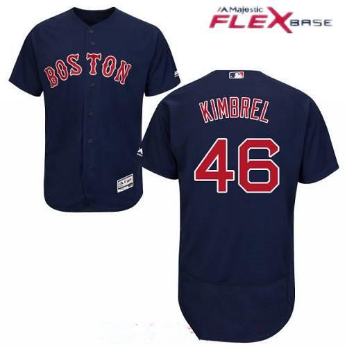 Men's Boston Red Sox #46 Craig Kimbrel Navy Blue Alternate Stitched MLB Majestic Flex Base Jersey