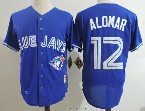 Men's Toronto Blue Jays #12 Roberto Alomar Royal Blue 1993 Throwback Cooperstown Collection Stitched MLB Mitchell & Ness Jersey