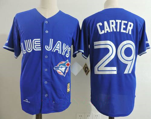 Men's Toronto Blue Jays #29 Joe Carter Royal Blue 1993 Throwback Cooperstown Collection Stitched MLB Mitchell & Ness Jersey