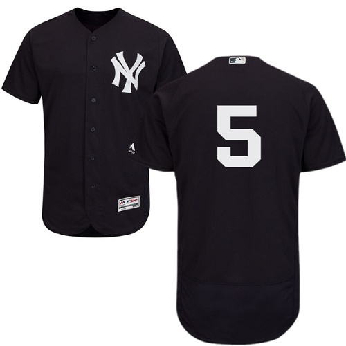 New York Yankees #5 Joe DiMaggio Navy Blue Flexbase Authentic Collection Stitched MLB Jersey