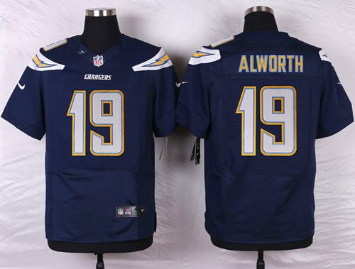 Nike San Diego Chargers #19 Lance Alworth Navy Blue Team Color Men's Stitched NFL New Elite Jersey