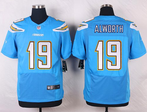 Nike San Diego Chargers #19 Lance Alworth Electric Blue Alternate Men's Stitched NFL New Elite Jersey