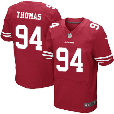 Nike San Francisco 49ers #94 Solomon Thomas Red Team Color Men's Stitched NFL Elite Jersey