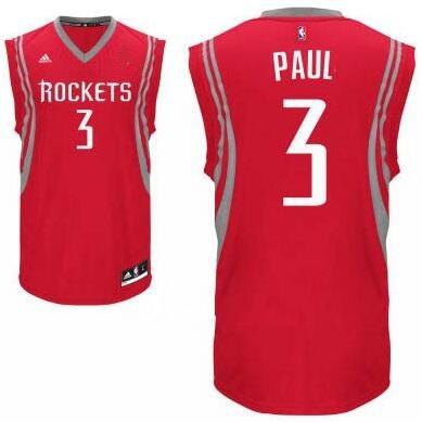 Men's Houston Rockets #3 Chris Paul Red Stitched NBA Adidas Revolution 30 Swingman Jersey