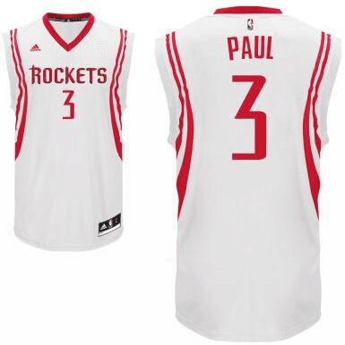 Men's Houston Rockets #3 Chris Paul White Stitched NBA Adidas Revolution 30 Swingman Jersey