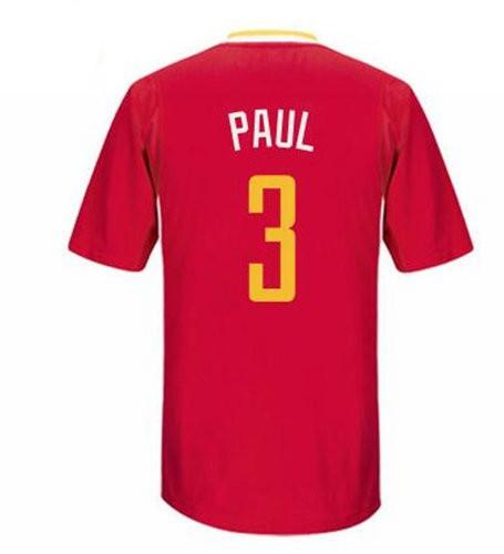 Men's Houston Rockets #3 Chris Paul New Red Short-Sleeved Stitched NBA Adidas Revolution 30 Swingman Jersey