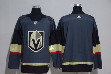 Men's Vegas Golden Knights Blank Gray 2017-2018 adidas Hockey Stitched NHL Jersey