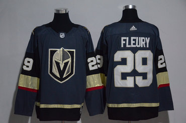 Vegas Golden Knights #29 Marc-Andre Fleury Steel Grey 2017-2018 adidas Hockey Stitched NHL Jersey