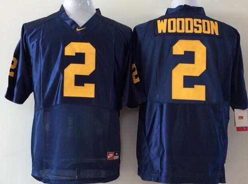 Youth Michigan Wolverines #2 Charles Woodson Navy Blue Stitched NCAA Nike College Football Jersey