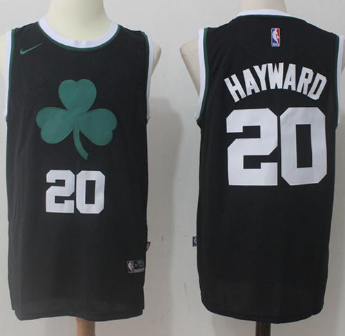 Men's Boston Celtics #20 Gordon Hayward Black 2017-2018 Nike Swingman Stitched NBA Jersey