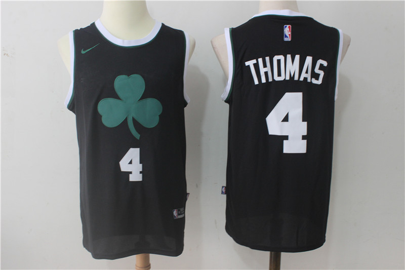 Men's Boston Celtics #4 Isaiah Thomas Black 2017-2018 Nike Swingman Stitched NBA Jersey
