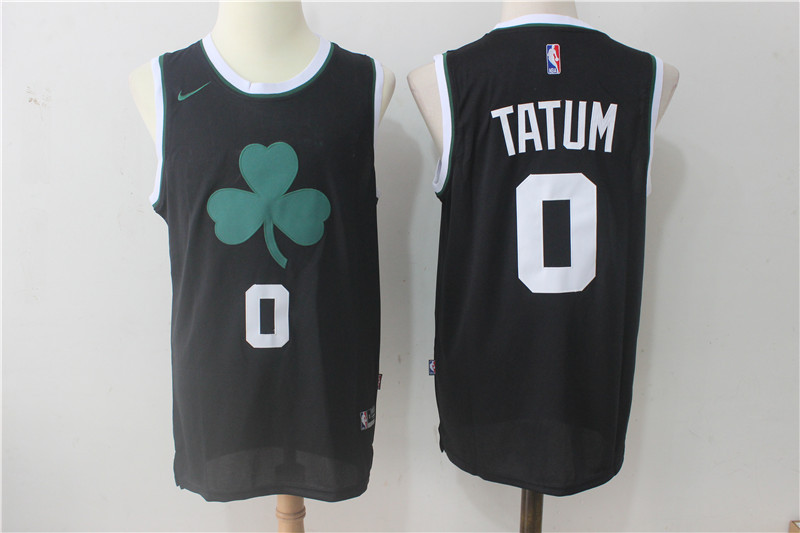 Men's Boston Celtics #0 Jayson Tatum Black 2017-2018 Nike Swingman Stitched NBA Jersey