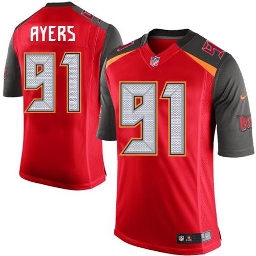 Men's Tampa Bay Buccaneers #91 Robert Ayers Red Team Color NFL Nike Elite Jersey