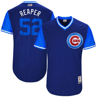 Men's Chicago Cubs Justin Grimm Reaper Majestic Royal 2017 Players Weekend Authentic Jersey