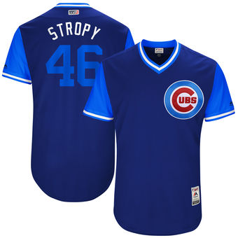 Men's Chicago Cubs Pedro Strop Stropy Majestic Royal 2017 Players Weekend Authentic Jersey