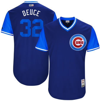 Men's Chicago Cubs Brian Duensing Deuce Majestic Royal 2017 Players Weekend Authentic Jersey