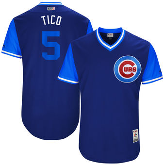Men's Chicago Cubs Albert Almora Tico Majestic Royal 2017 Players Weekend Authentic Jersey
