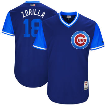 Men's Chicago Cubs Ben Zobrist Zorilla Majestic Royal 2017 Players Weekend Authentic Jersey