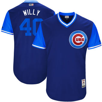 Men's Chicago Cubs Willson Contreras Willy Majestic Royal 2017 Players Weekend Authentic Jersey