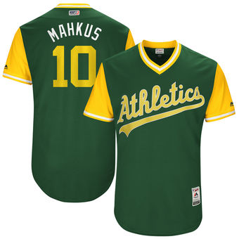 Men's Oakland Athletics Marcus Semien Mahkus Majestic Green 2017 Players Weekend Authentic Jersey