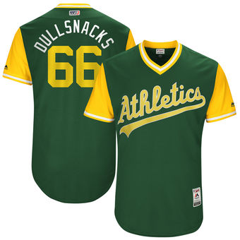 Men's Oakland Athletics Ryan Dull Dullsnacks Majestic Green 2017 Players Weekend Authentic Jersey
