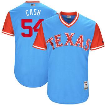 Men's Texas Rangers Andrew Cashner Cash Majestic Light Blue 2017 Players Weekend Authentic Jersey