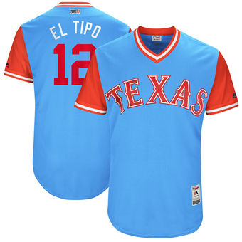 Men's Texas Rangers Rougned Odor El Tipo Majestic Light Blue 2017 Players Weekend Authentic Jersey