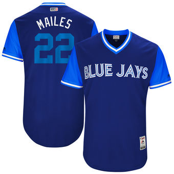 Men's Toronto Blue Jays Luke Maile Mailes Majestic Royal 2017 Players Weekend Authentic Jersey