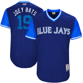 Men's Toronto Blue Jays Jose Bautista Joey Bats Majestic Royal 2017 Players Weekend Authentic Jersey