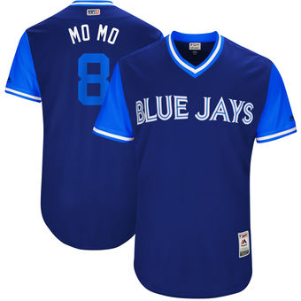 Men's Toronto Blue Jays Kendrys Morales Mo Mo Majestic Royal 2017 Players Weekend Authentic Jersey