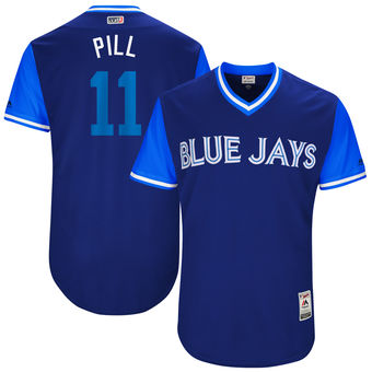Men's Toronto Blue Jays Kevin PillarPill Majestic Royal 2017 Players Weekend Authentic Jersey