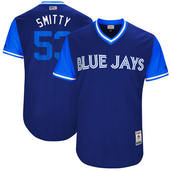 Men's Toronto Blue Jays Chris Smith Smitty Majestic Royal 2017 Players Weekend Authentic Jersey