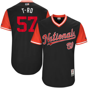 Men's Washington Nationals Tanner Roark T-Ro Majestic Navy 2017 Players Weekend Authentic Jersey