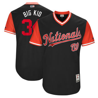 Men's Washington Nationals Bryce Harper Big Kid Majestic Navy 2017 Players Weekend Authentic Jersey