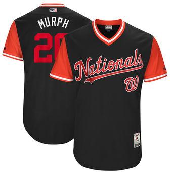 Men's Washington Nationals Daniel Murphy Murph Majestic Navy 2017 Players Weekend Authentic Jersey