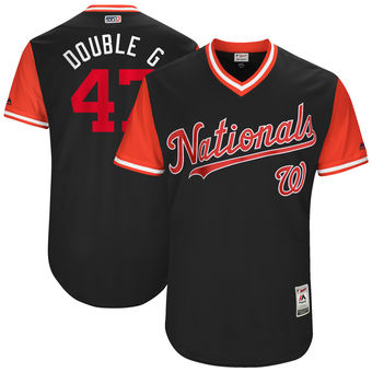 Men's Washington Nationals Gio Gonzalez Double Majestic Navy 2017 Players Weekend Authentic Jersey