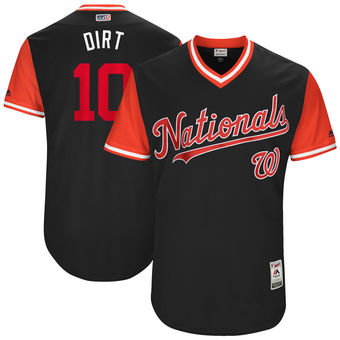 Men's Washington Nationals Stephen Drew Dirt Majestic Navy 2017 Players Weekend Authentic Jersey