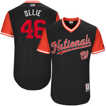 Men's Washington Nationals Oliver Perez Ollie Majestic Navy 2017 Players Weekend Authentic Jersey