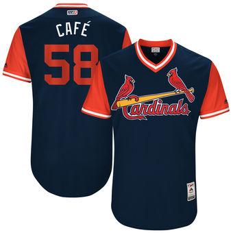 Men's St. Louis Cardinals Jose Martinez Cafè Majestic Navy 2017 Players Weekend Authentic Jersey
