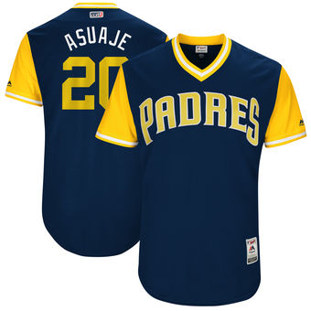 Men's San Diego Padres Carlos Asuaje Asuaje Majestic Navy 2017 Players Weekend Authentic Jersey