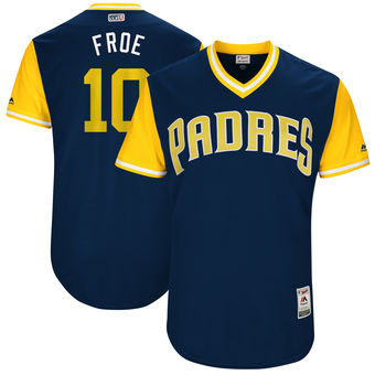 Men's San Diego Padres Hunter Renfroe Froe Majestic Navy 2017 Players Weekend Authentic Jersey