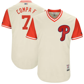 Men's Philadelphia Phillies Maikel Franco Compa F Majestic Tan 2017 Players Weekend Authentic Jersey