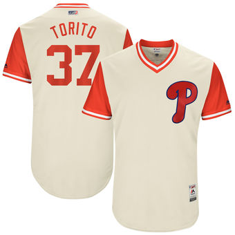 Men's Philadelphia Phillies Odubel Herrera Torito Majestic Tan 2017 Players Weekend Authentic Jersey