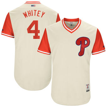 Men's Philadelphia Phillies Andres Blanco Whitey Majestic Tan 2017 Players Weekend Authentic Jersey