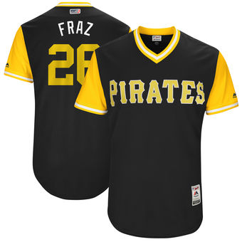 Men's Pittsburgh Pirates Adam Frazier Fraz Majestic Black 2017 Players Weekend Authentic Jersey
